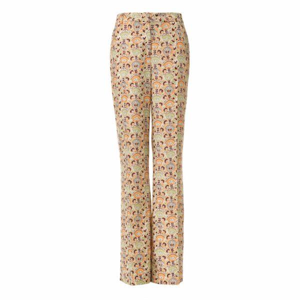 Pantalone Wide leg a fantasia floreale Multicolor - vista frontale | Nicla