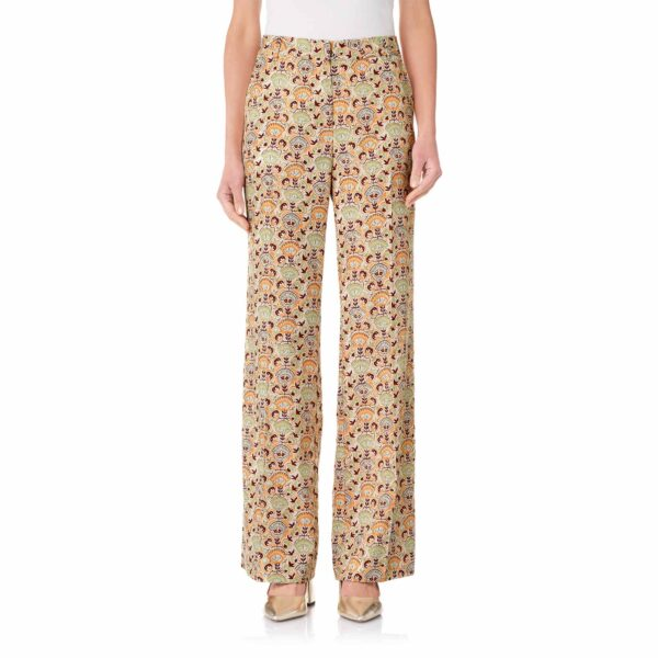 Pantalone Wide leg a fantasia floreale Multicolor - Nicla