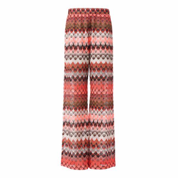 Pantalone Wide leg a maglia raschel Multicolor - vista frontale   Nicla