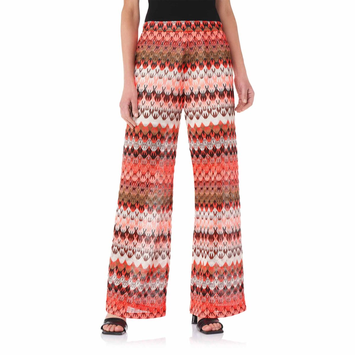 Pantalone Wide leg a maglia raschel Multicolor - Nicla