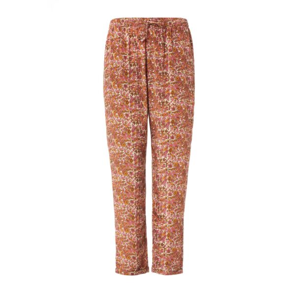Pantalone Relaxed fit a stampa floreale Multicolor - vista frontale | Nicla