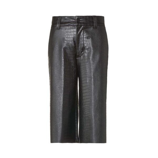 Pantalone Bermuda effetto pelle cocco Nero - vista frontale | Nicla