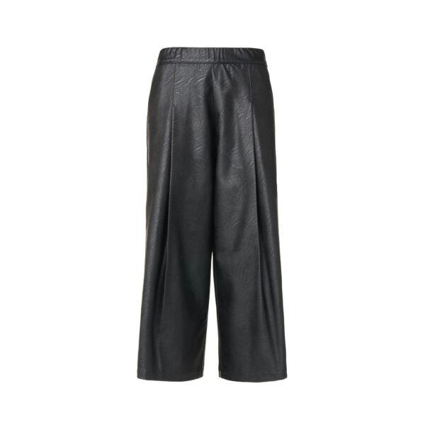 Pantalone Culotte effetto pelle Nero - vista frontale | Nicla