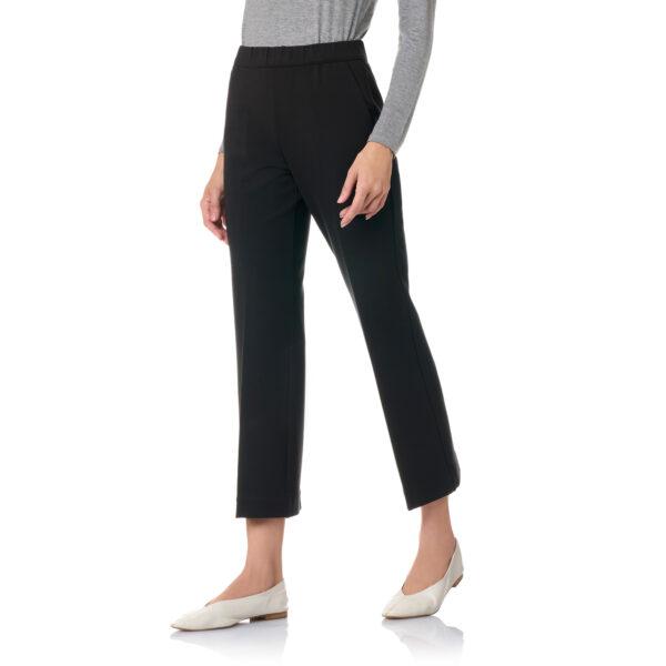 Pantalone Flare jersey compatto Nero - Nicla