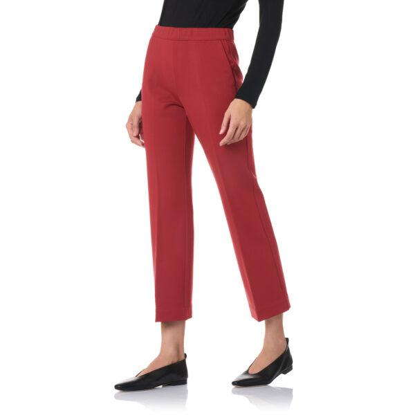 Pantalone Flare jersey compatto Rosso - Nicla