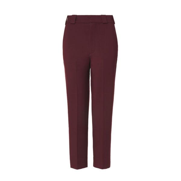Pantalone New Straight jersey compatto Burgundy - vista frontale | Nicla