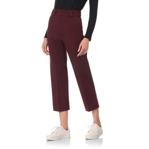 Pantalone New Straight jersey compatto Burgundy - Nicla
