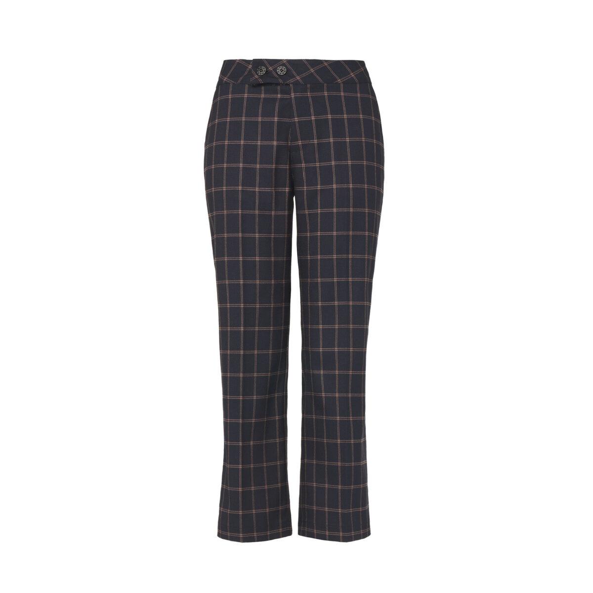 Pantalone Classic windowpane Blu - vista frontale | Nicla