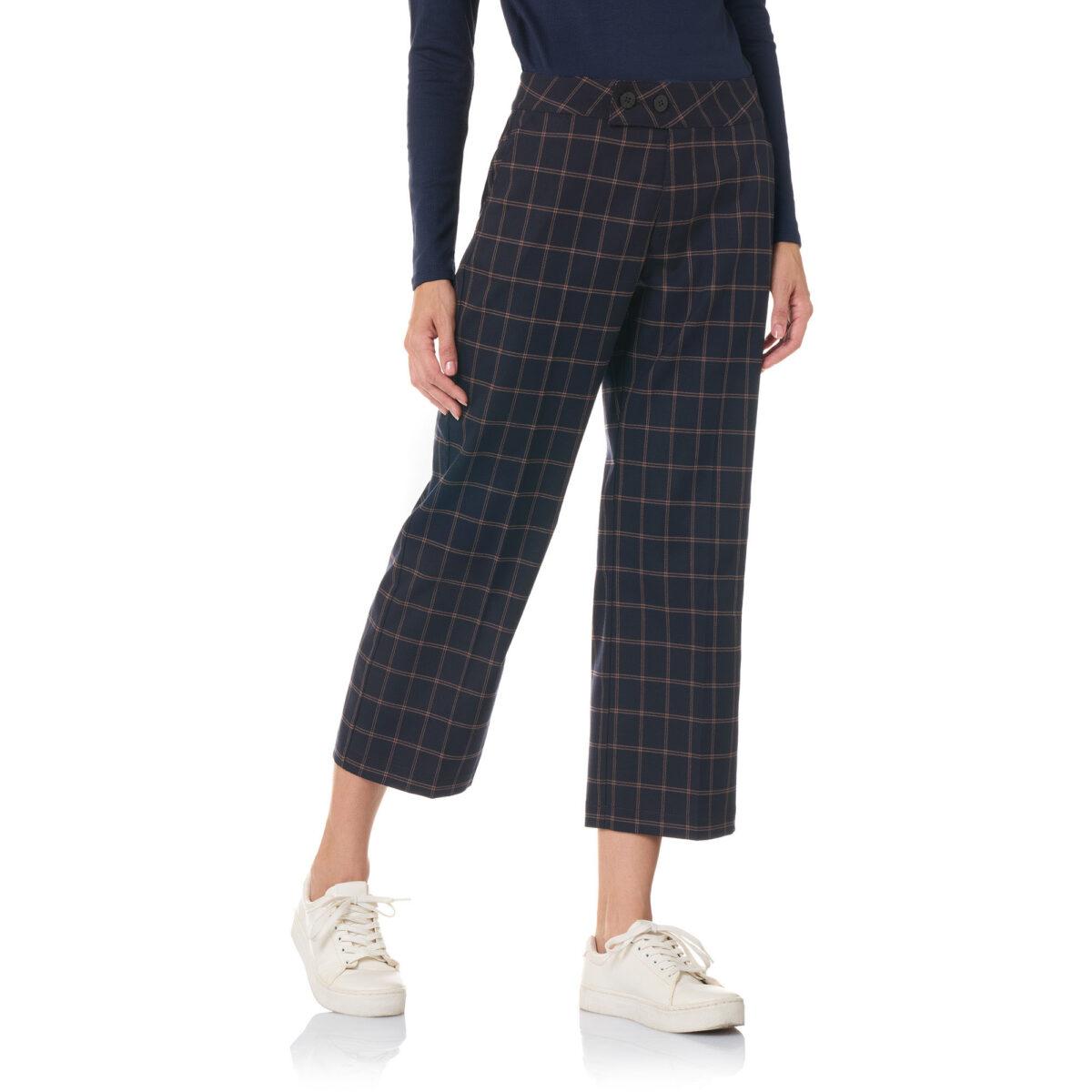 Pantalone Classic windowpane Blu - Nicla