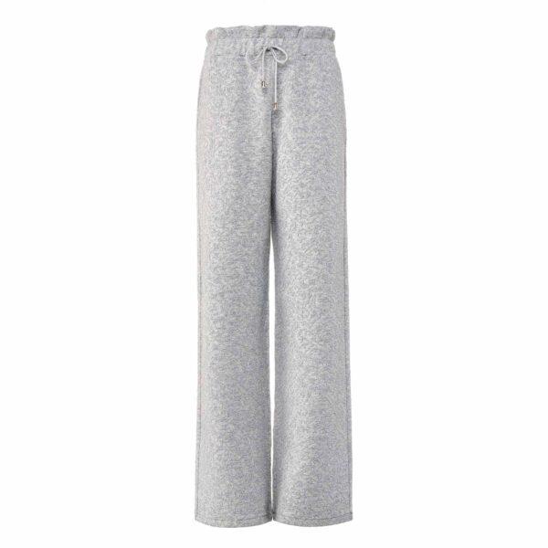 Pantalone Paperbag Wide leg Grigio - vista frontale | Nicla