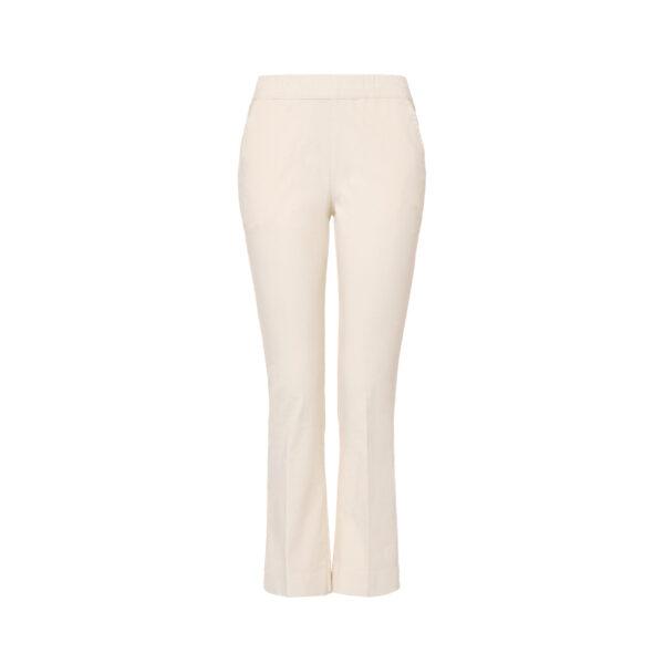 Pantalone Flare in velluto a costine Bianco - vista frontale | Nicla