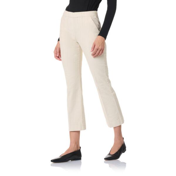 Pantalone Flare in velluto a costine Bianco - Nicla