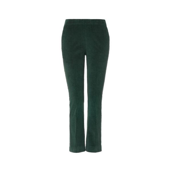 Pantalone Flare in velluto a costine Verde - vista frontale | Nicla