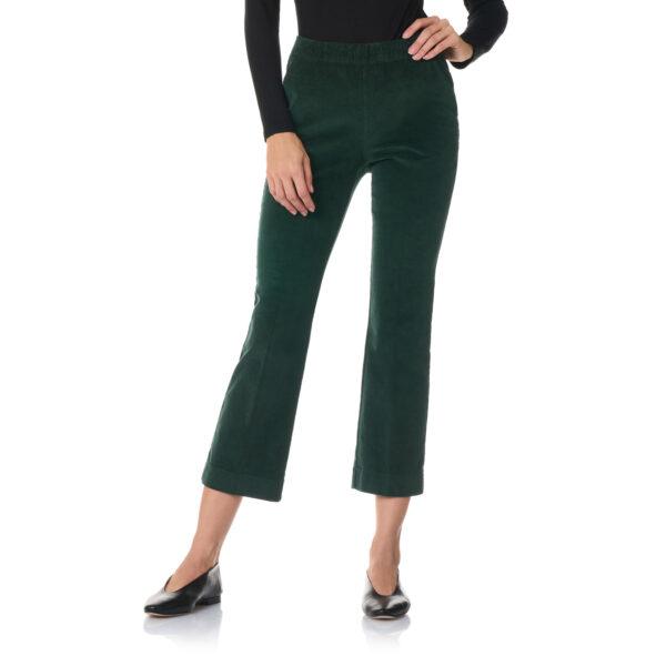 Pantalone Flare in velluto a costine Verde - Nicla
