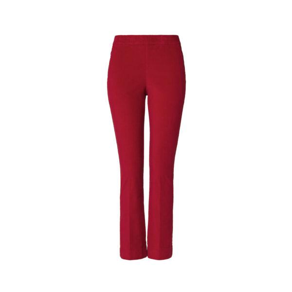 Pantalone Flare in velluto a costine Rosso - vista frontale | Nicla