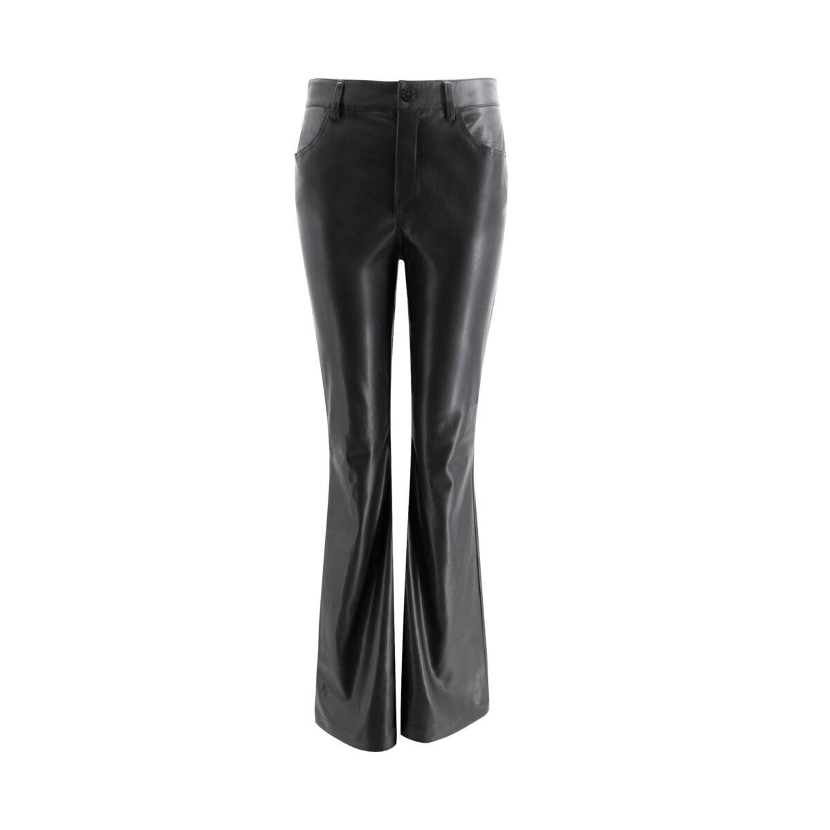 Pants Bootcut effetto pelle Nero - vista frontale | Nicla