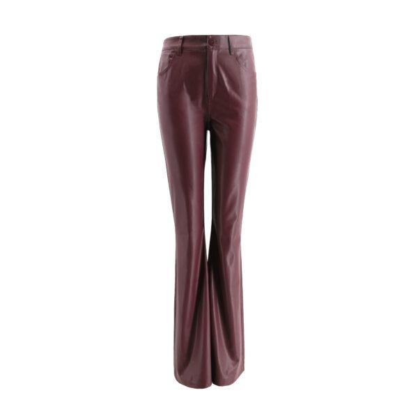 Pants Bootcut effetto pelle Rosso - vista frontale | Nicla