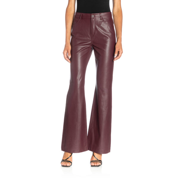 Pants Bootcut effetto pelle Rosso - Nicla