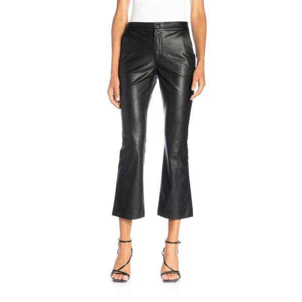 Pants Flare effetto pelle Nero - Nicla