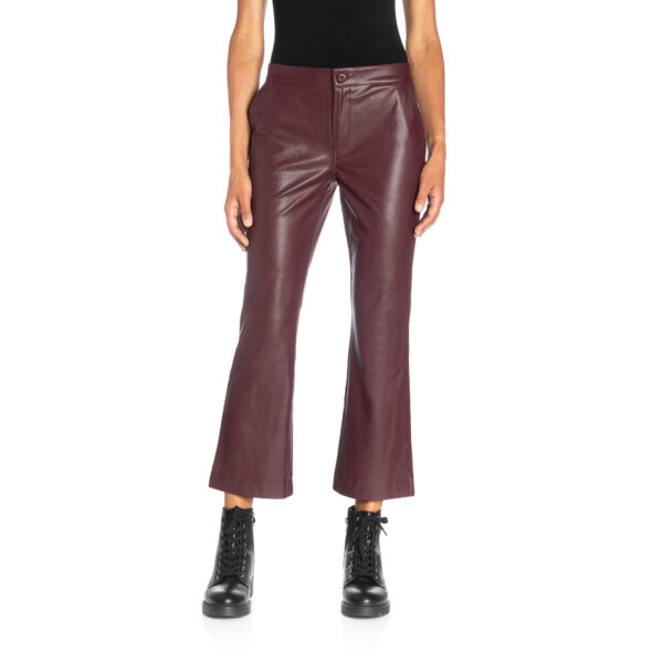 Pants Flare effetto pelle Rosso - Nicla