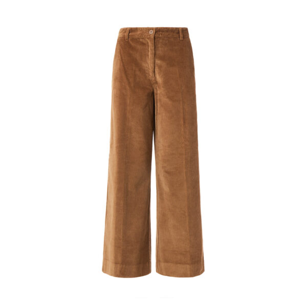 Pant Cropped velluto a coste Marrone - vista frontale | Nicla