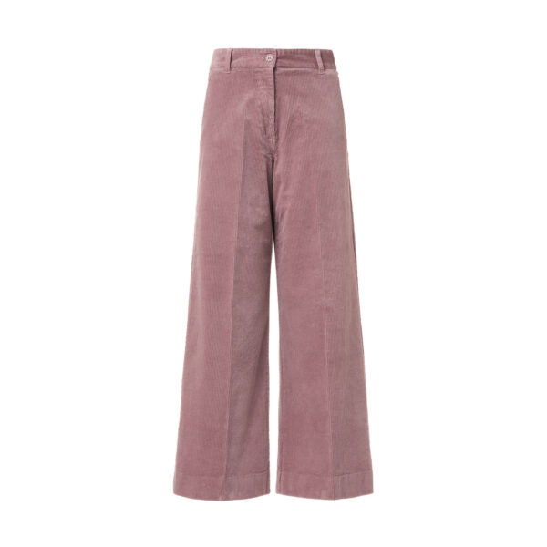 Pant Cropped velluto a coste Rosa - vista frontale | Nicla