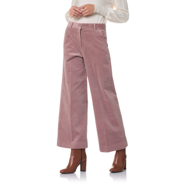 Pant Cropped velluto a coste Rosa - Nicla