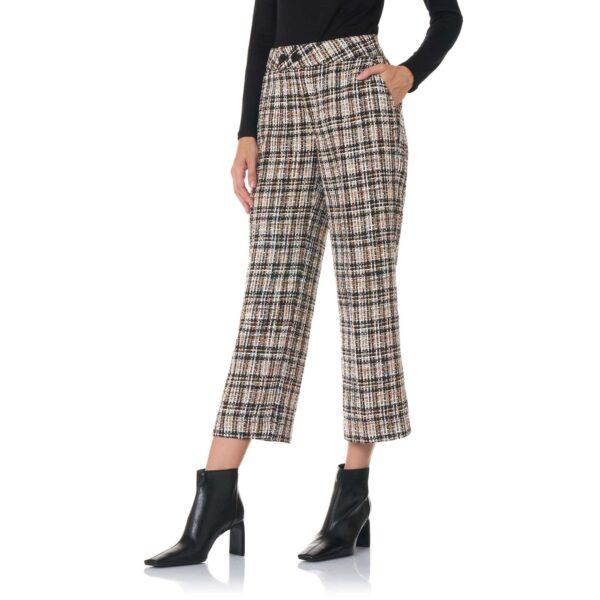 Pant Classic Tweed Black and White Bianco/Nero - Nicla