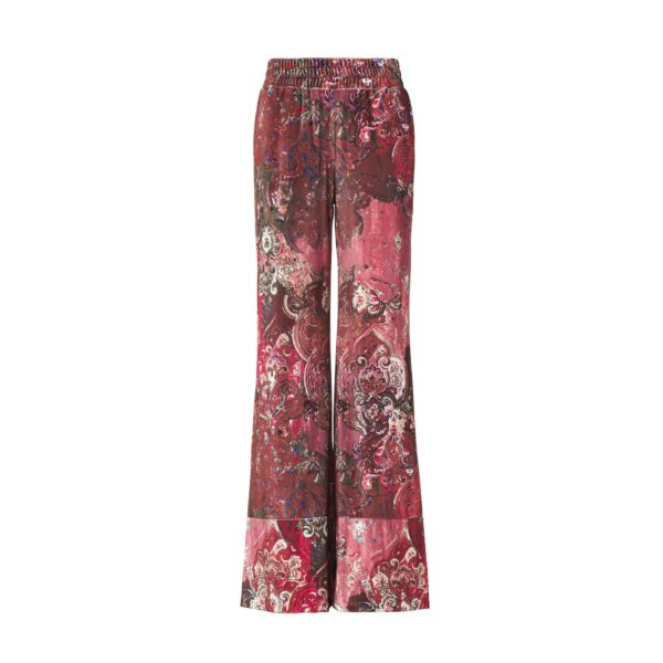 """Pant Palazzo """"Antique Tapestry"""" Multicolor - vista frontale 