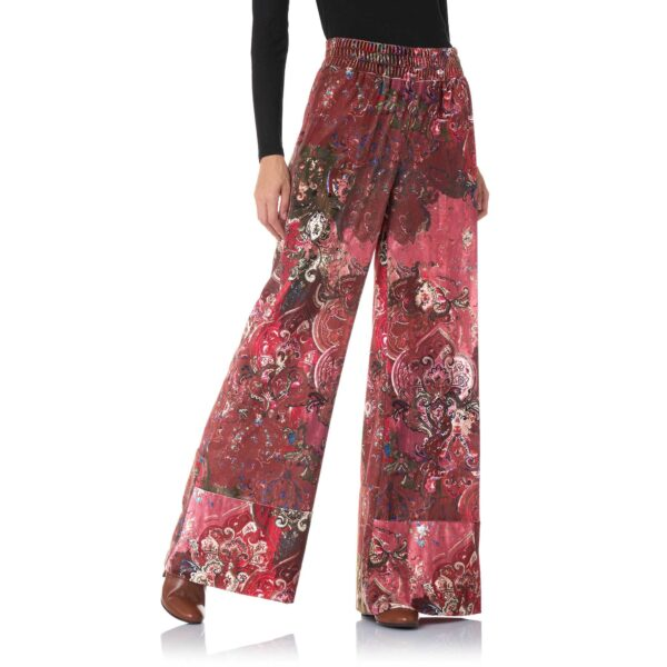 """Pant Palazzo """"Antique Tapestry"""" Multicolor - Nicla"""