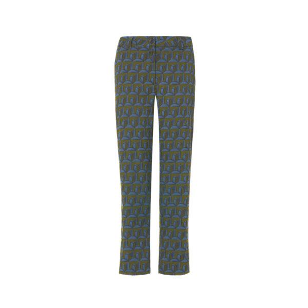 "Pant Straight Jaquard ""Metropolitan Pinnacle"" Verde - vista frontale | Nicla"