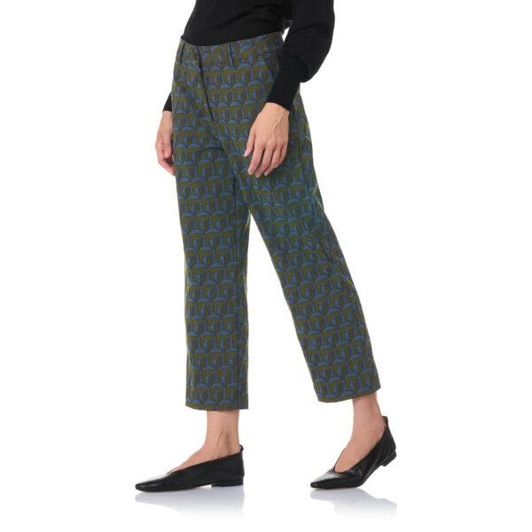 "Pant Straight Jaquard ""Metropolitan Pinnacle"" Verde - Nicla"