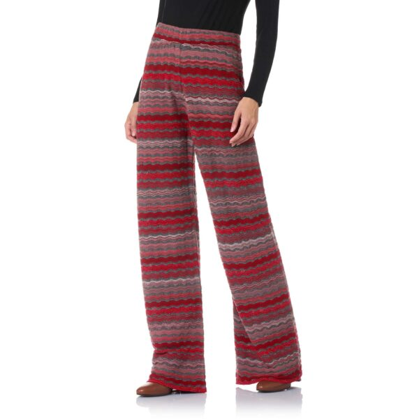 Pant Wide Leg a maglia Rosso - Nicla