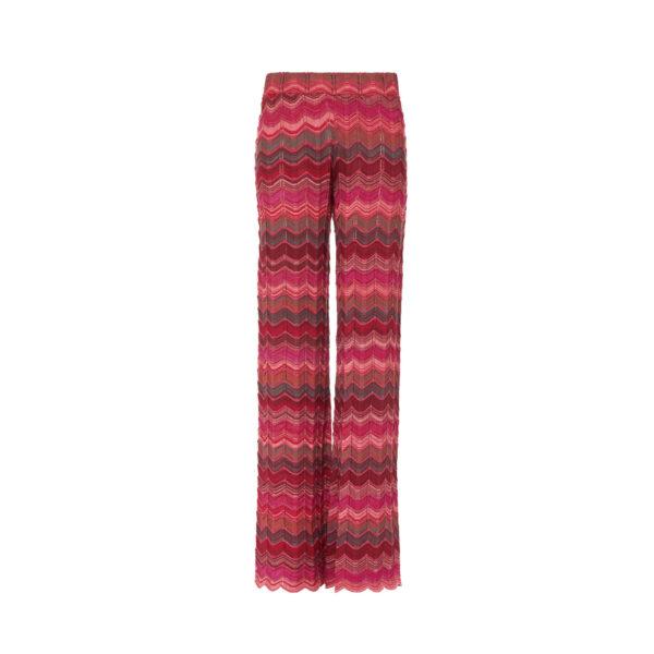 Pant Wide Leg a maglia Rosa - vista frontale | Nicla