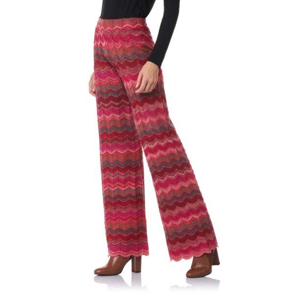 Pant Wide Leg a maglia Rosa - Nicla