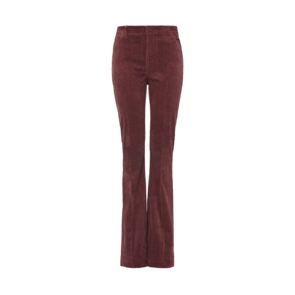 Pantalone Bootcut Burgundy - vista frontale | Nicla
