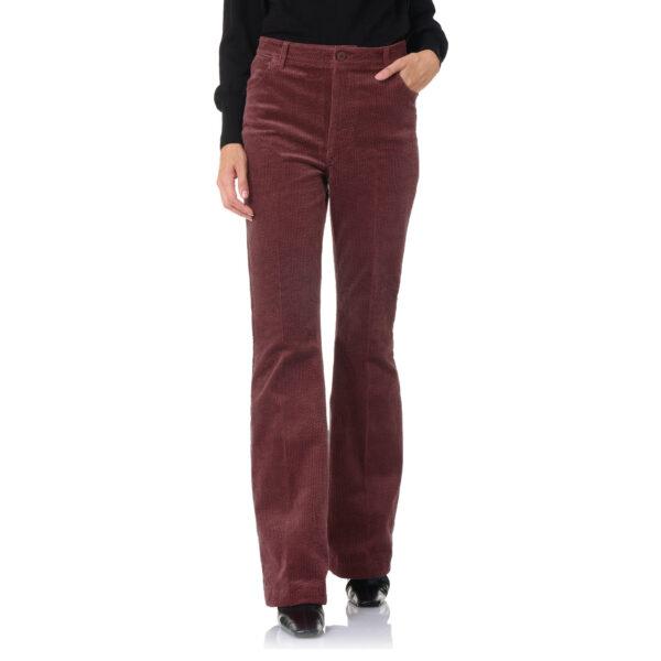Pantalone Bootcut Burgundy - Nicla