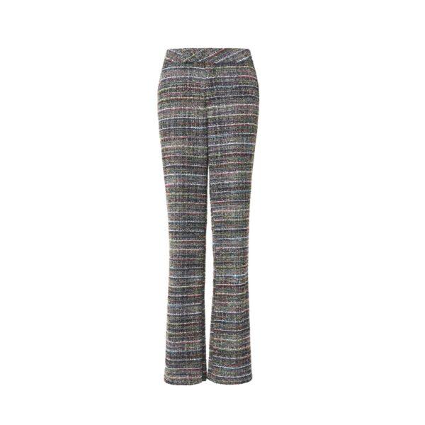 Pant Classic Tweed Lurex Multicolor Multicolor - vista frontale | Nicla