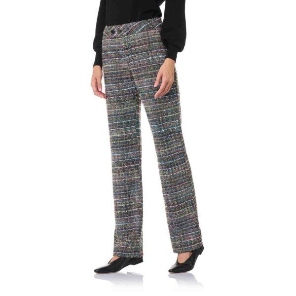 Pant Classic Tweed Lurex Multicolor Multicolor - Nicla