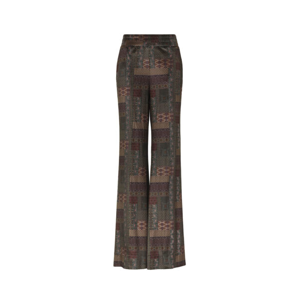 """Pant Palazzo """"Eclectic Nomad Cachmere"""" Multicolor - vista frontale 