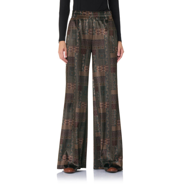 """Pant Palazzo """"Eclectic Nomad Cachmere"""" Multicolor - Nicla"""
