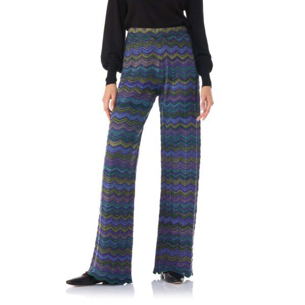 Pant Wide Leg a maglia Viola - Nicla